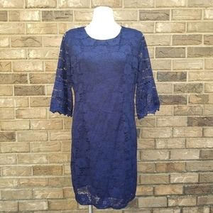 Twinklady Bell Sleeve Floral Lace Dress NWT